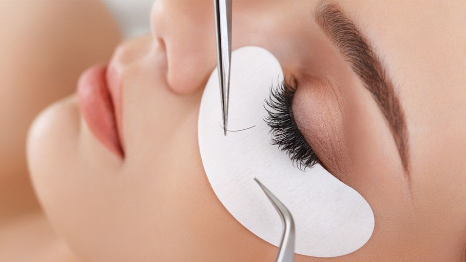 Professional eyelash extensions.